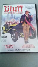 """DVD """"BLUFF LOS EMBROLLONES"""" COMO NUEVA SERGIO CORBUCCI ANTHONY QUINN CELENTANO"""