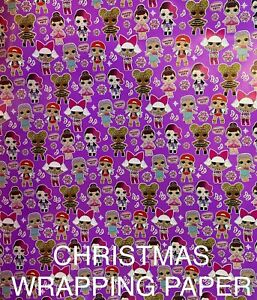 LOL SURPRISE DOLLS CHRISTMAS HOLIDAY WRAPPING PAPER - 20 SQ FT🎄🎁 FREE SHIPPING