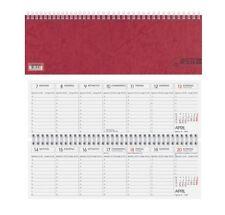 Glocken Querkalender 2016 Tischkalender rot 1 Seite pro Woche