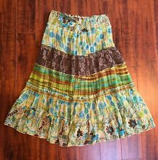 BoHo HIPPIE Chic Small Tiered Lined Versatile Casual or Dressy Skirt