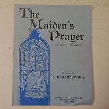 piano solo BADARZEWSKA the maidens prayer / la priere d`une vierge