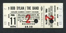 Original 1974 Bob Dylan The Band unused full concert ticket Oakland Planet Waves