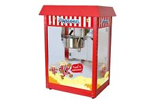 Vintage Style Popcorn Machine Maker Popper With 8-Ounce Kettle - Red