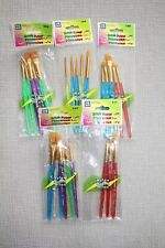 New In Package (5) Sets Of Loew Cornell Nylon Craft Paint Brushes Variety