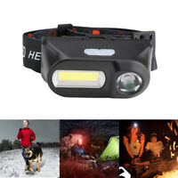 Mini COB XPE LED Headlight USB Rechargeable Headlamp Camping Flashlight 6 Modes