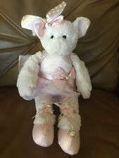 Bearington Baby Ballerina Dancer Plush Pig Stuffed Animal Soft Toy Pink White