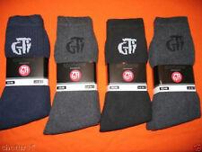 G.T.I Lot de 6 Paires de Chaussette Fil d/Écosse 100/% Coton Remaill/é Noir ou Multicol