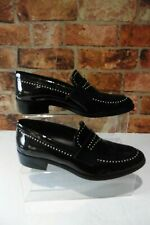 EVALUNA OXBLOOD PATENT LEATHER STUDDED LOAFERS UK 5 / 38 IMMACULATE R30
