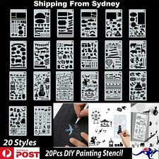20x Stencils Templates Scrapbooking Painting Embossing Airbrush DIY Craft Planne