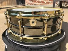"""Ludwig Black Beauty 5""""X14"""" snare Drum with brass trim & Case"""