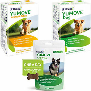 Tablets and Chews YuMOVE Dog Joint Supplements for Stiff & Older Dogs Lintbells