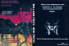 Willard (1971) & Ben (1972) Original movies, Double Feature 2 Disc DVD Box Set