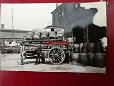 PHOTO  BARRELS & WAGON AT WILLOW WALK  BRICKLAYERS ARMS COMPLEX C1903