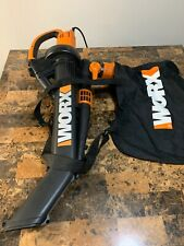 WORX TRIVAC GT 3-IN-1 LEAF BLOWER / MULCHER / YARD Electric Lawn Vac w/Bag WG500