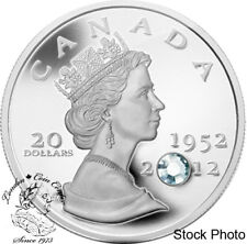 Canada 2012 $20 Queen's Diamond Jubilee Pure Silver Coin with Crystal