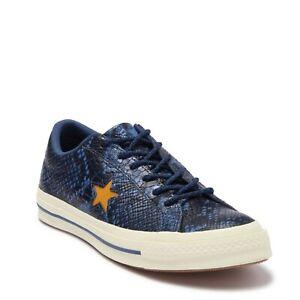 NWOB Converse One Star OX Mason Blue Snake Skin Sneakers Size 6 Men / 8 Women X3