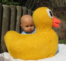 PRINTED KNITTING INSTRUCTIONS GIANT RUBBER DUCK TOY BIRD ANIMAL KNITTING PATTERN