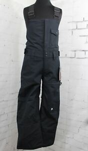 Quiksilver Utility Snowboard Bib Pants, Youth/Kids Medium 12Y, Black New