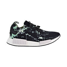 70fc860f7 adidas NMD R1 PK Marble Mens Bb7996 Aero Green Black Primeknit Shoes Size 9