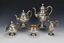 5 Piece Gorham Shamrock V Sterling Silver Tea Set