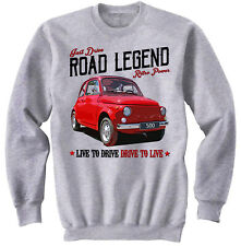 Fiat 500 Vintage - NEW COTTON GREY SWEATSHIRT ALL SIZES IN STOCK