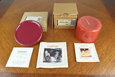 Longaberger Pint Size Pillar Fall Autumn Scented Candle Cinnamon Clove & Coaster