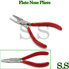 """FLAT NOSE JAW PLIERS 4-1/2"""" WITH V-SPRING JEWELRY MAKING REPAIR TOOL JW-4012"""