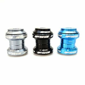 "FSA Orbit MX Threadless Bike Headset 1-1/8"" 34mm with top Cap - Black Grey Blue"