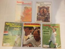 VINTAGE SPORTS ILLUSTRATED MAGAZINES LOT OF 5 TENNIS HOW TO STROKE 1961-68
