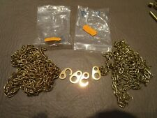 "Lot of 2 Cuckoo Clock Brass Weight Chains New NOS 68"" Length Parts Repair"