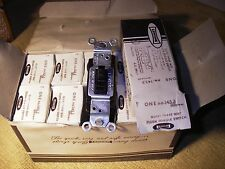 Lot/Box of 10: New Brown LEVITON Quiet  3-Way Toggle Switches. 15amp 120v