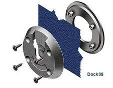 2 x DOCK08 Klick-Fast Screw on Garment Dock  for Ambulance Paramedic PCSO Police