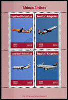 Madagascar 2019 CTO Ethiopian South African Airlines 4v M/S Aviation Stamps