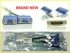 Genuine HP DMS-59 to dual VGA adapter cable video Y splitter  BRAND NEW