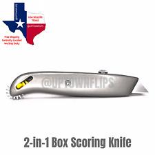 2 In 1 Make A Box Resizer Scorer Cutter Utility Knife Scoring Wheel Sizer Tool