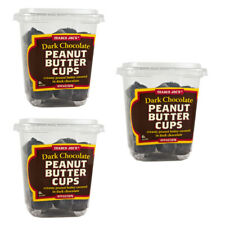 3 Pkgs TRADER JOES DARK CHOCOLATE PEANUT BUTTER CUPS - 16 oz ea FREE SHIPPING