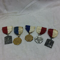 5 Vintage Medals Music Awards Illinois Grade School Ornate