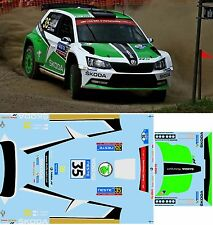 SKODA FABIA R5 LAPPI RALLY  NESTE OIL  2016 DECALS  1/43