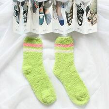 New Women Girls Bed Socks Stripe Fluffy Warm Winter Kids Gift Soft Floor Home