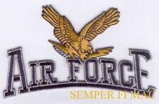 US AIR FORCE EAGLE SCRIPT HAT VEST PATCH PILOT CREW GIFT QUILT PIN UP VETERAN