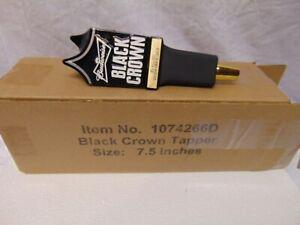 "New in Box Budweiser Black Crown triangle Bar Tap handle #1074266D 7.5"" Black"