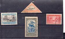 Liberia Barcos Valores año 1915-36 (DO-267)