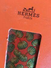 Hermes Men's Tie 100% Silk Pumpkin Pattern Made In France New In Box