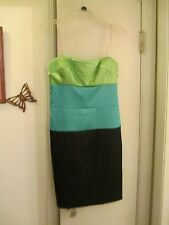 Roulette -  Strapless Pencil Dress  -  Size 8 - Polyester/Spandex -  Multi-color