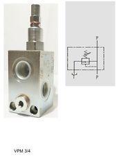 Hydraulik Druckbegrenzungsventil  G 1/2 /60 lt/min, einstellbereich 10 - 200 bar