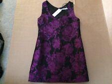 MOSSMAN Womens Devils Avocate Dress NEW 10 BNWT Purple Black Floral Sleeveless