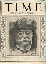 Time Magazine  June 30, 1924  Mr. Chief Justice