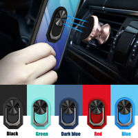 360°Finger Ring Cell Phone Holder Stand Car Magnetic Mount Metal Plate Universal