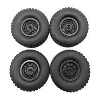 4 × Gummirad Reifen Räder Reifenteile Für WPL C34 4WD FJ40 RC Car Truck DIY Auto