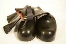 Rubber Slip On Army Issue Galoshes Overboot Gumshoe Sz 9